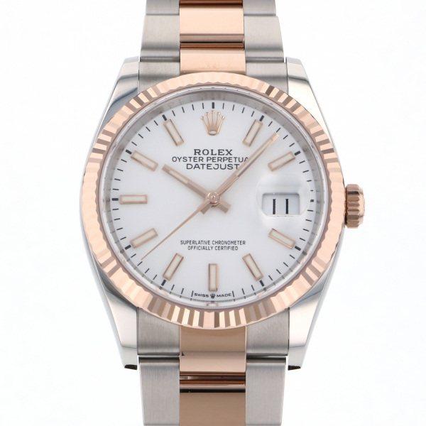 ロレックス ROLEX デイトジャスト 36 126231 ホワイト文字盤 メンズ 腕時計 【新品】