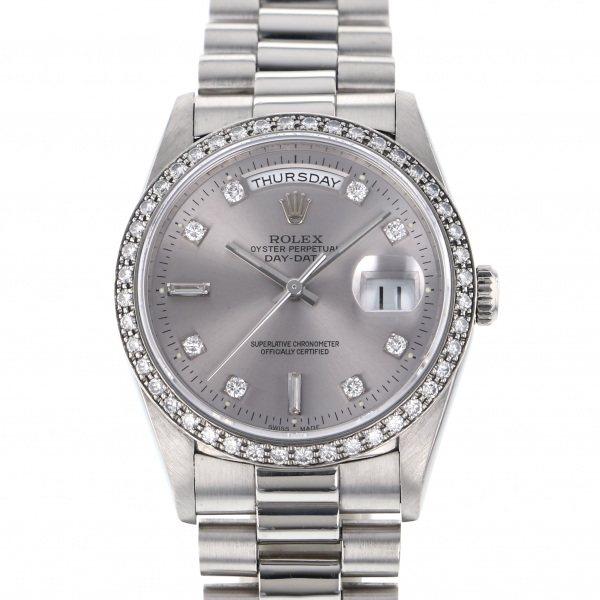 ロレックス ROLEX デイデイト 18346A シルバー文字盤 メンズ 腕時計 【中古】