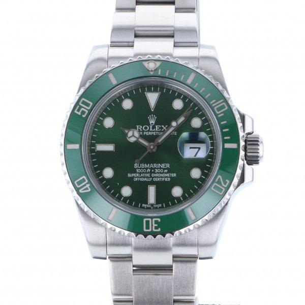 ロレックス ROLEX サブマリーナ デイト 116610LV グリーン文字盤 メンズ 腕時計 【中古】