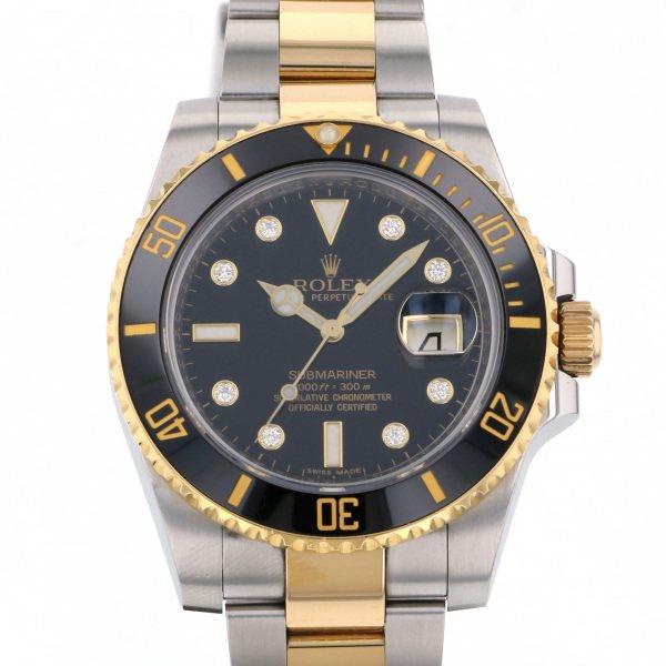 ロレックス ROLEX サブマリーナ 116613GLN ブラック文字盤 メンズ 腕時計 【中古】