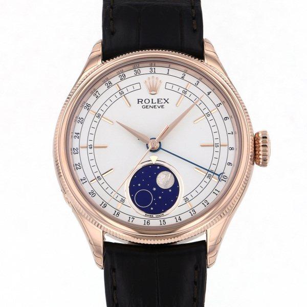 【期間限定ポイント5倍 5/5~5/31】 ロレックス ROLEX チェリーニ ムーンフェイズ 50535 ホワイト文字盤 メンズ 腕時計 【新品】
