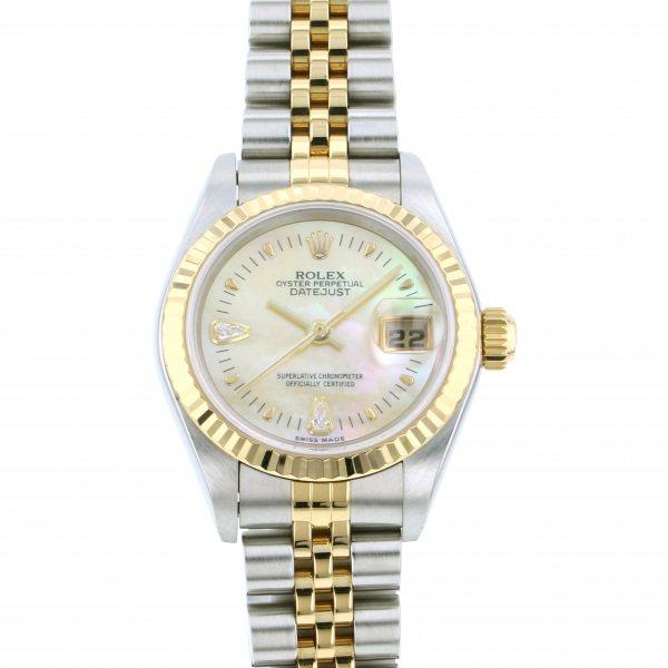 ロレックス ROLEX デイトジャスト 79173 2BR イエロー文字盤 レディース 腕時計 【中古】