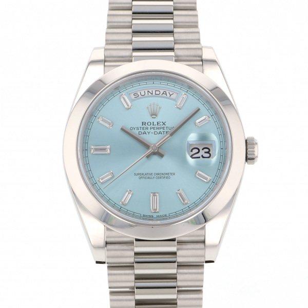 ロレックス ROLEX デイデイト 228206A アイスブルー文字盤 メンズ 腕時計 【中古】
