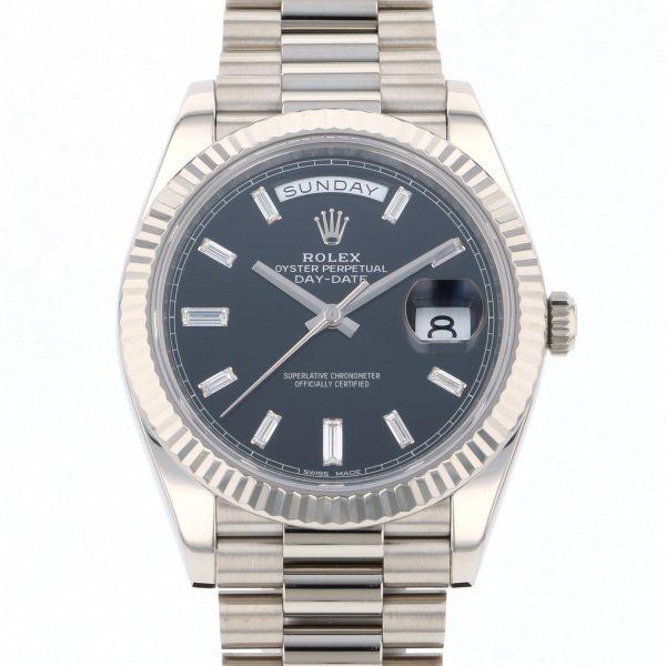 ロレックス ROLEX デイデイト 228239A ブラック文字盤 メンズ 腕時計 【中古】
