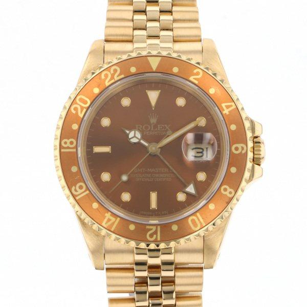 ロレックス ROLEX GMTマスター II 16718 ブラウン文字盤 メンズ 腕時計 【中古】
