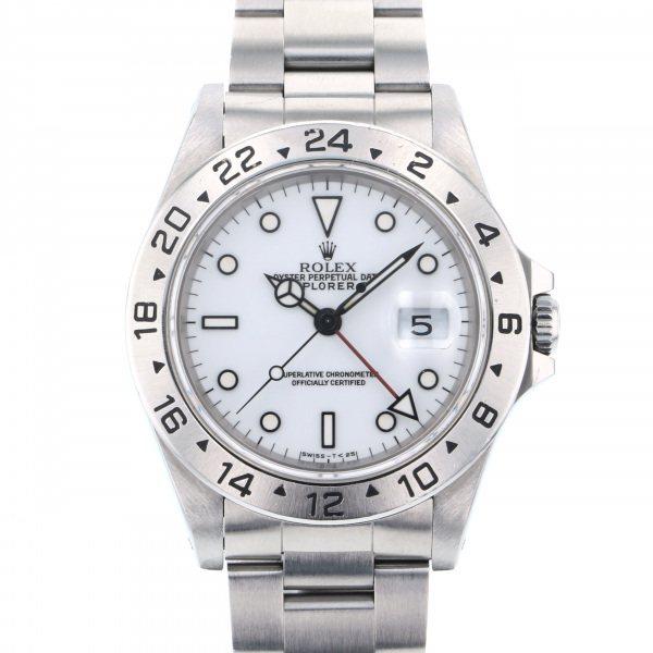 ロレックス ROLEX エクスプローラー II 16570 ホワイト文字盤 メンズ 腕時計 【中古】