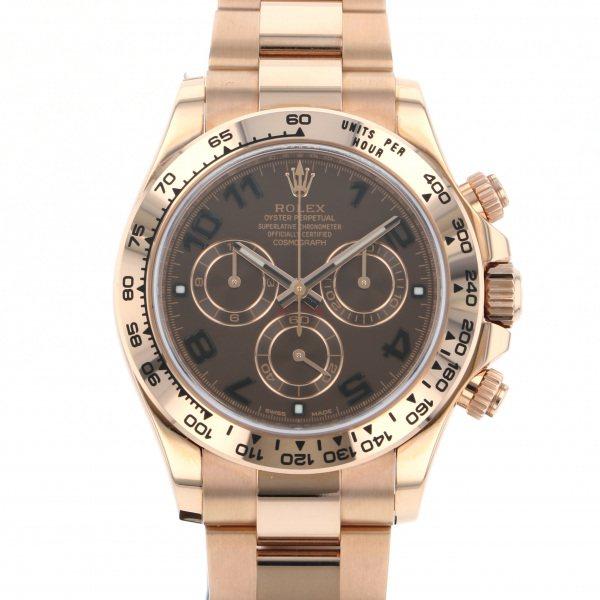 ロレックス ROLEX デイトナ 116505 チョコレート文字盤 メンズ 腕時計 【中古】