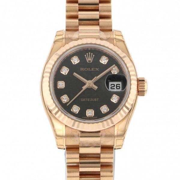 ロレックス ROLEX デイトジャスト 179175G ブラック文字盤 レディース 腕時計 【新品】