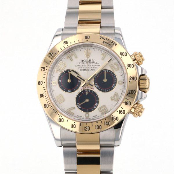 ロレックス ROLEX デイトナ 116523 ホワイト/ブラック文字盤 メンズ 腕時計 【中古】