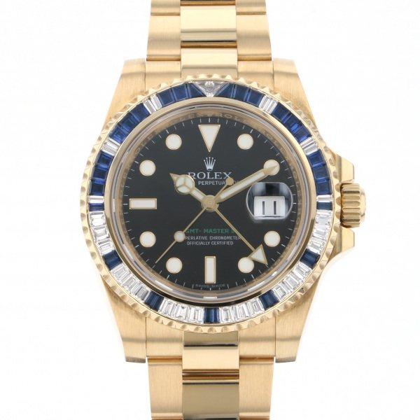 ロレックス ROLEX GMTマスター II 116748SA ブラック文字盤 メンズ 腕時計 【中古】