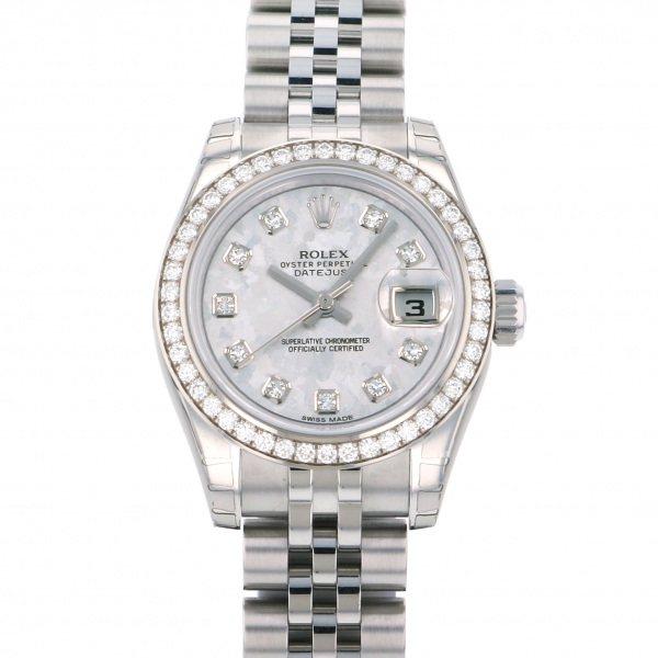 ロレックス ROLEX デイトジャスト 179384G シルバー文字盤 レディース 腕時計 【新品】