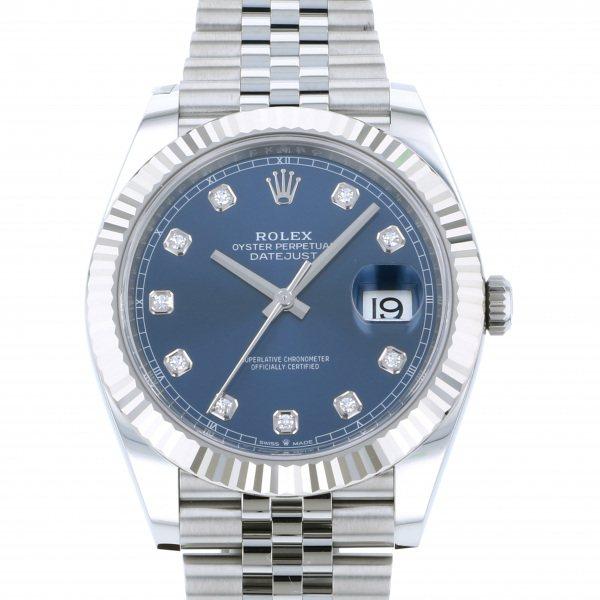 ロレックス ROLEX デイトジャスト 41 126334G ブルー文字盤 メンズ 腕時計 【新品】