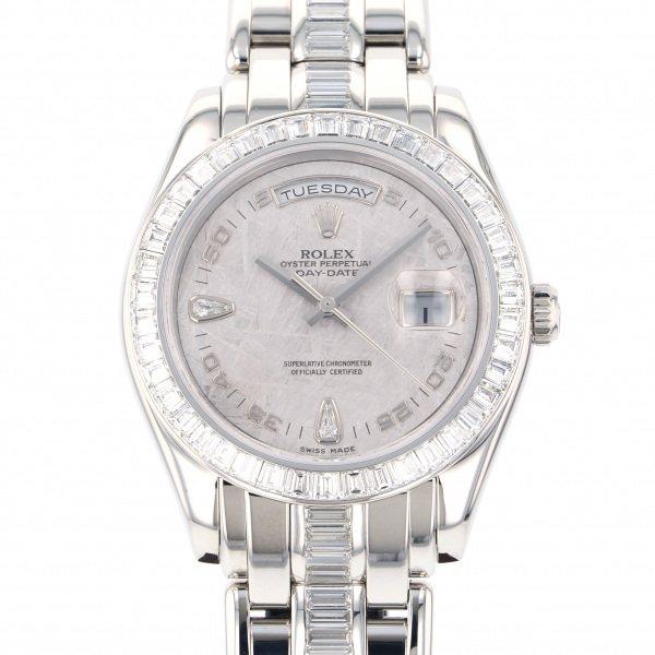 ロレックス ROLEX デイデイト 18956BRIL 2B シルバー文字盤 メンズ 腕時計 【中古】