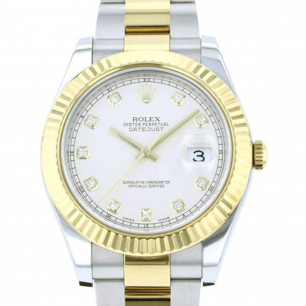 ロレックス ROLEX デイトジャスト II 116333G アイボリー文字盤 メンズ 腕時計 【中古】