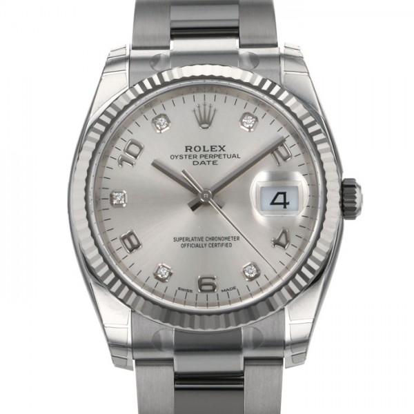 ロレックス ROLEX オイスターパーペチュアル デイト 115234G シルバー文字盤 メンズ 腕時計 【新品】