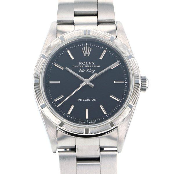 ロレックス ROLEX エアキング 14010 ブラック文字盤 メンズ 腕時計 【中古】