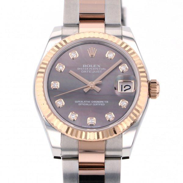 ロレックス ROLEX デイトジャスト 178271NG ブラック文字盤 レディース 腕時計 【中古】