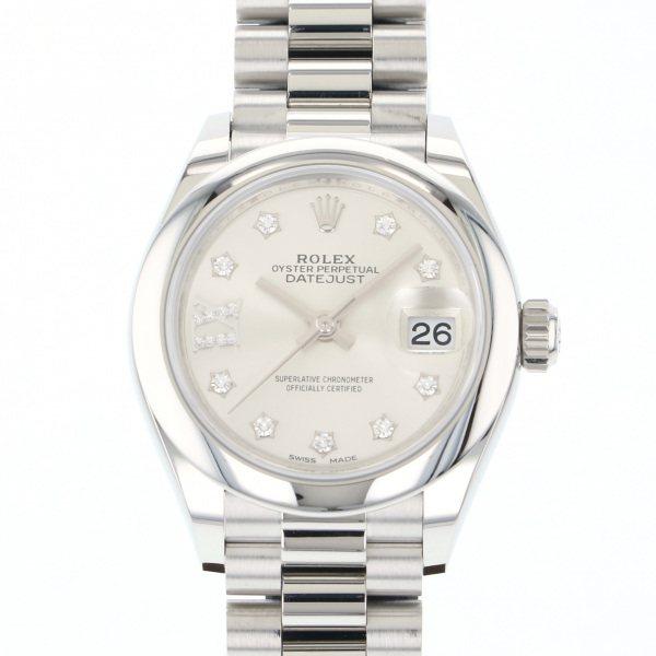 ロレックス ROLEX デイトジャスト 279166G シルバー(IXダイヤ)文字盤 レディース 腕時計 【中古】