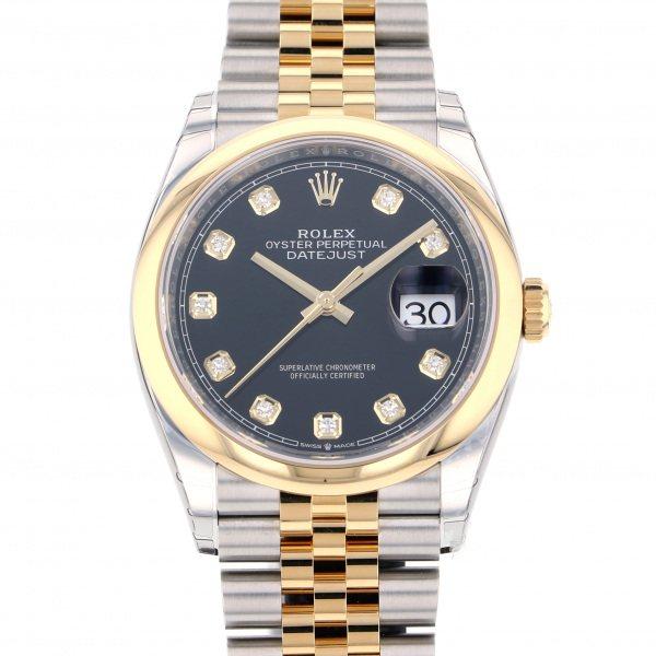 ロレックス ROLEX デイトジャスト ジュビリーブレス 126203G ブラック文字盤 メンズ 腕時計 【新品】