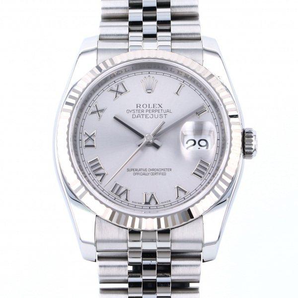 ロレックス ROLEX デイトジャスト 116234 グレーローマ文字盤 メンズ 腕時計 【中古】
