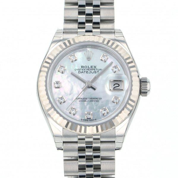 ロレックス ROLEX デイトジャスト 28 279174NG ホワイト文字盤 新品 腕時計 レディース