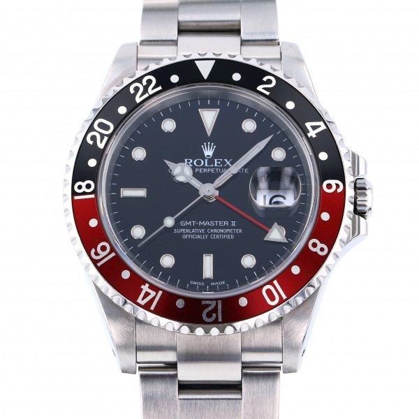 ロレックス ROLEX GMTマスター II 16710 ブラック文字盤 メンズ 腕時計 【中古】