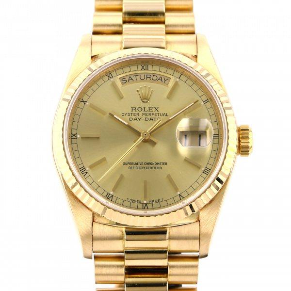 【期間限定ポイント5倍 5/5~5/31】 ロレックス ROLEX デイデイト 18038 シャンパン文字盤 メンズ 腕時計 【中古】