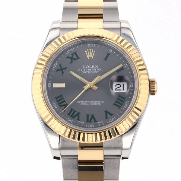 ロレックス ROLEX デイトジャスト II 116333 グレーローマ文字盤 メンズ 腕時計 【中古】