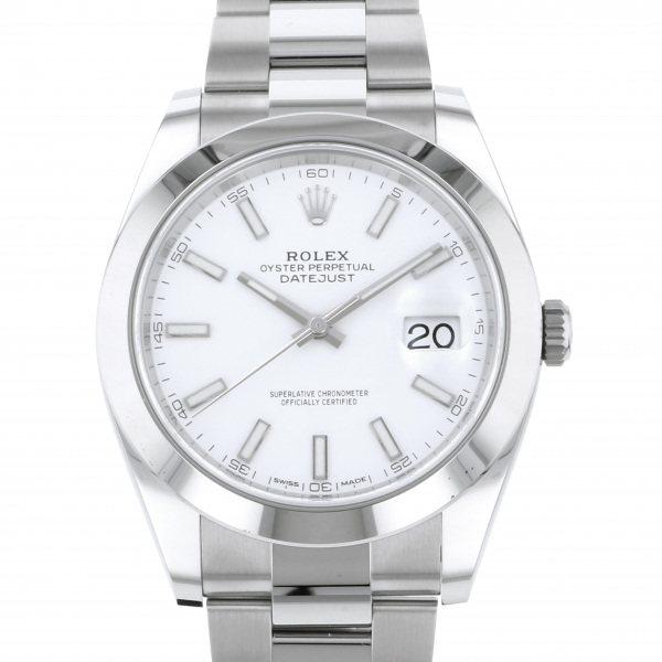 【期間限定ポイント5倍 5/5~5/31】 ロレックス ROLEX デイトジャスト 41 126300 ホワイト文字盤 メンズ 腕時計 【新品】