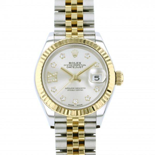 ロレックス ROLEX デイトジャスト 28 279173G シルバー(IXダイヤ)文字盤 レディース 腕時計 【中古】