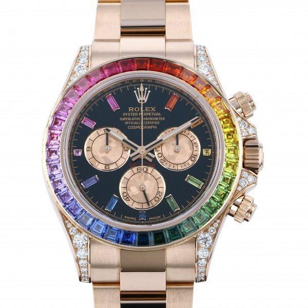 ロレックス ROLEX デイトナ レインボー 116595RBOW ブラック文字盤 メンズ 腕時計 【中古】