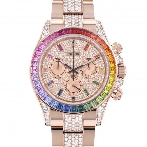 ロレックス ROLEX デイトナ レインボー パヴェダイヤ 116595RBOW 全面ダイヤ文字盤 メンズ 腕時計 【新品】