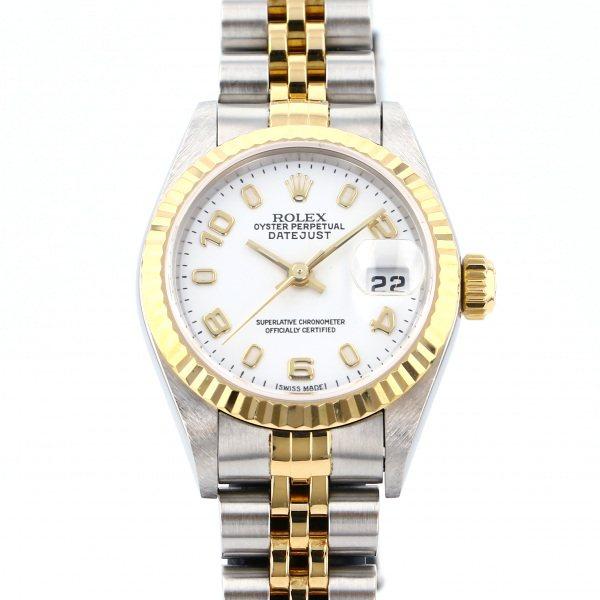 ロレックス ROLEX デイトジャスト 79173 ホワイトアラビア文字盤 レディース 腕時計 【中古】