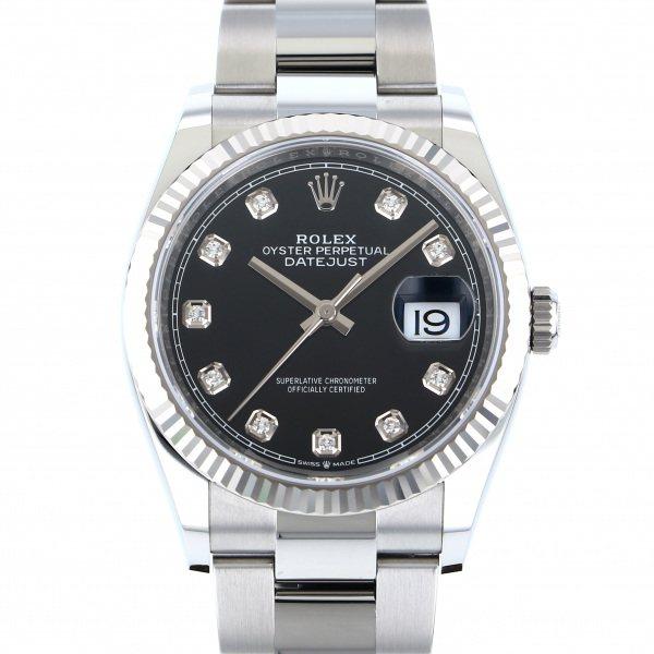 ロレックス ROLEX デイトジャスト オイスターブレス 126234G ブラック文字盤 メンズ 腕時計 【新品】