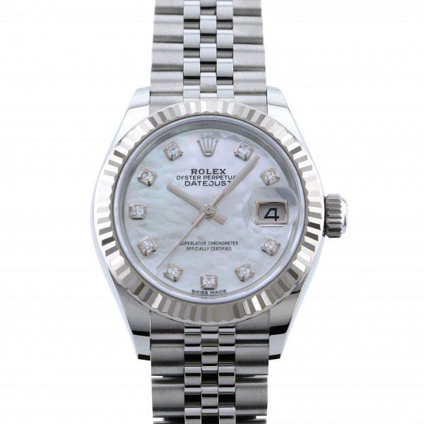 ロレックス ROLEX デイトジャスト 28 279174NG ホワイト文字盤 レディース 腕時計 【中古】