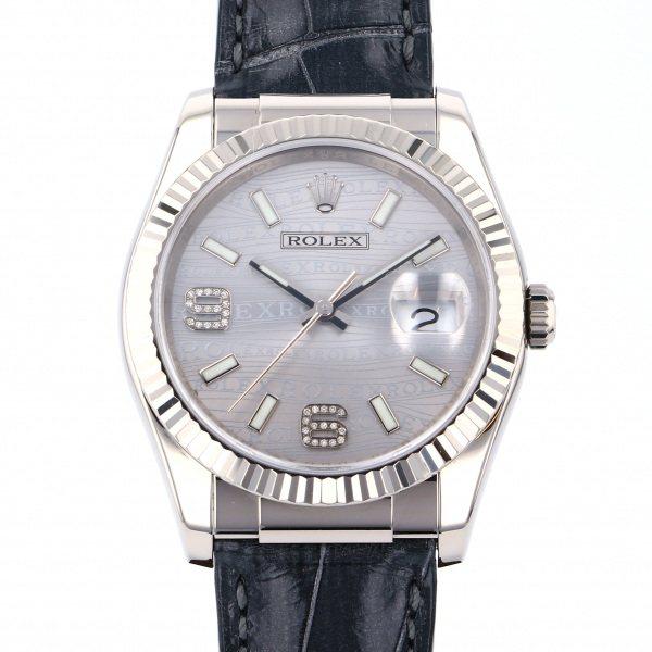 ロレックス ROLEX デイトジャスト 116139 シルバー文字盤 メンズ 腕時計 【中古】