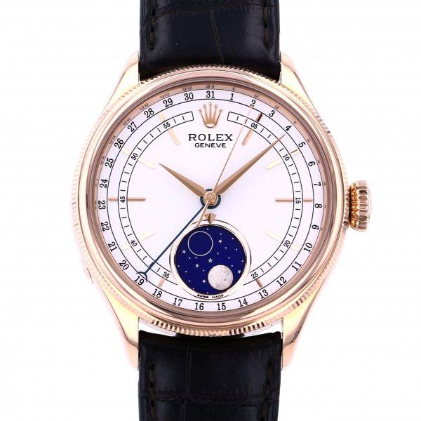 ロレックス ROLEX チェリーニ ムーンフェイズ 50535 ホワイト文字盤 メンズ 腕時計 【中古】