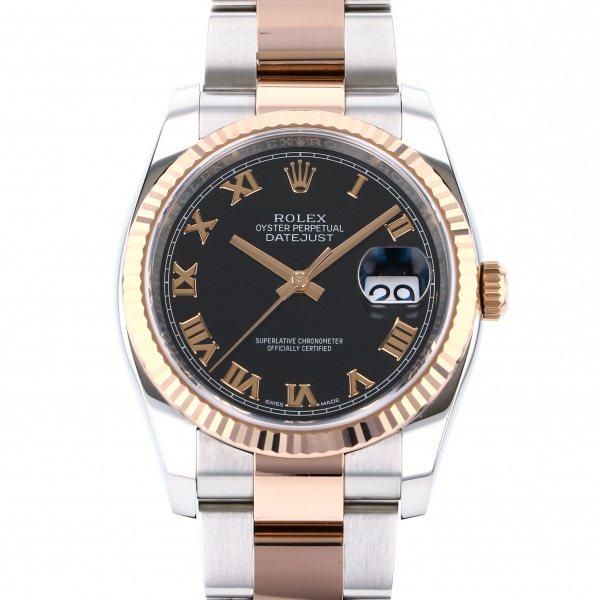 ロレックス ROLEX デイトジャスト 116231 ブラックローマ文字盤 メンズ 腕時計 【中古】