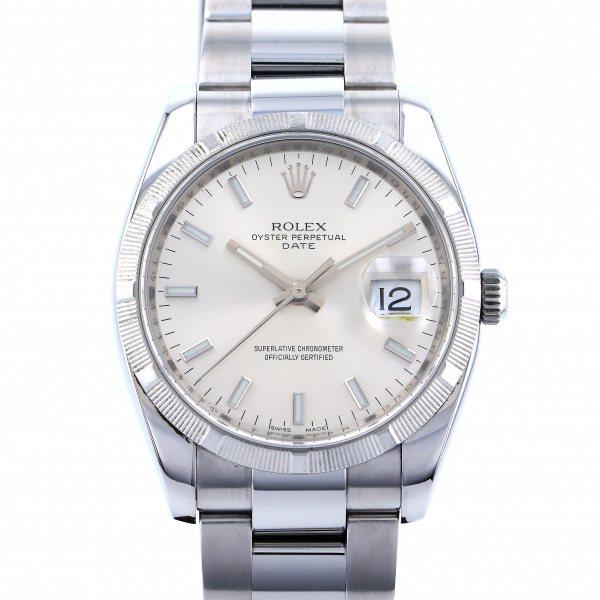 ロレックス ROLEX オイスターパーペチュアル デイト 115210 シルバー文字盤 メンズ 腕時計 【中古】