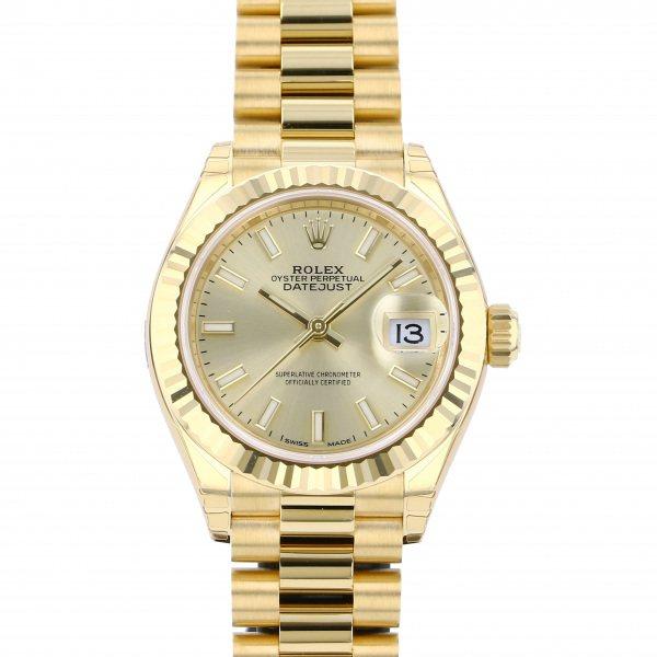 ロレックス ROLEX デイトジャスト 28 279178 シャンパン文字盤 レディース 腕時計 【新品】
