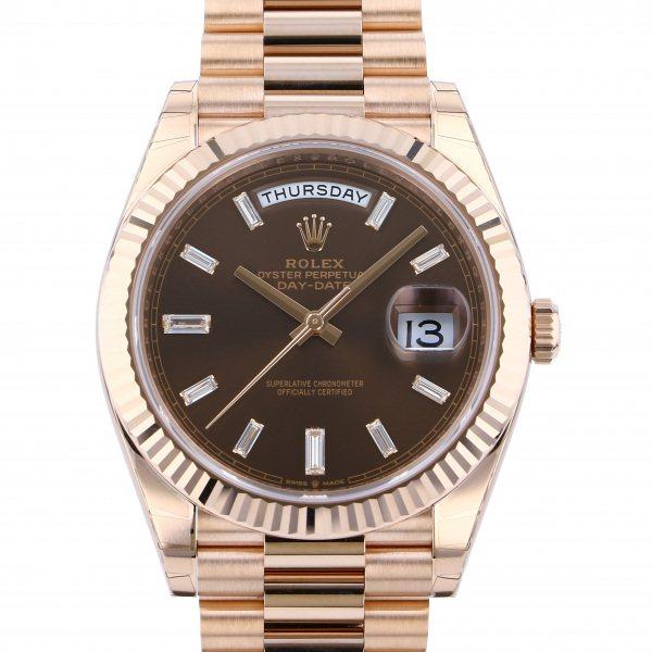 ロレックス ROLEX デイデイト 40 228235A チョコレート文字盤 メンズ 腕時計 【新品】