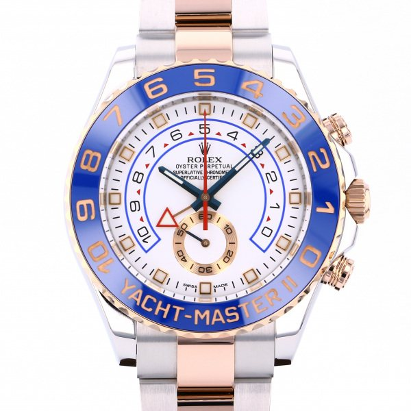 ロレックス ROLEX ヨットマスター II 116681 ホワイト文字盤 メンズ 腕時計 【中古】