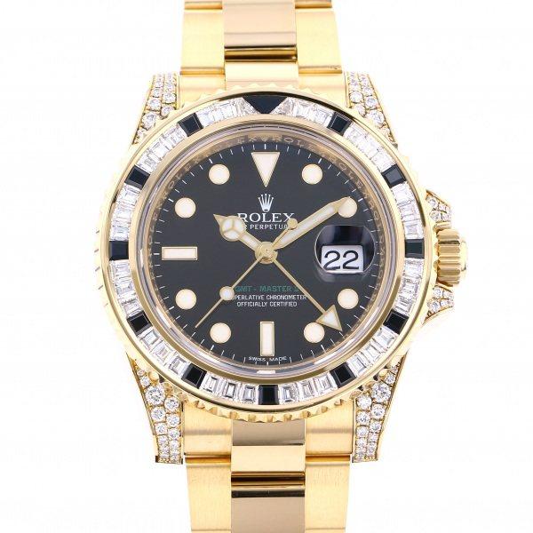 ロレックス ROLEX GMTマスター II 116758SANR ブラック文字盤 メンズ 腕時計 【中古】