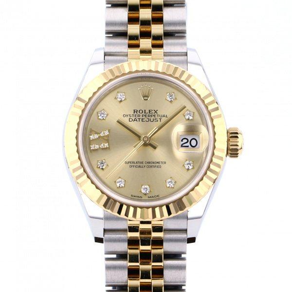 ロレックス ROLEX デイトジャスト 28 279173G シャンパン(IXダイヤ)文字盤 レディース 腕時計 【中古】