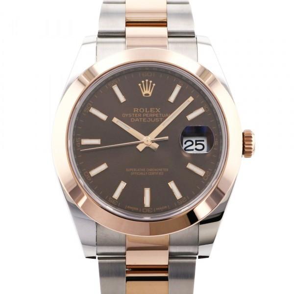 ロレックス ROLEX デイトジャスト 41 買い物 126301 メンズ チョコレート文字盤 限定品 腕時計 新品