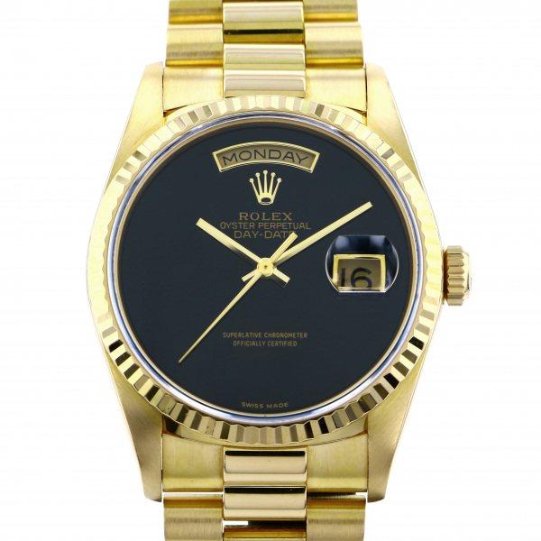 ロレックス ROLEX デイデイト 18238 ブラック文字盤 メンズ 腕時計 【中古】