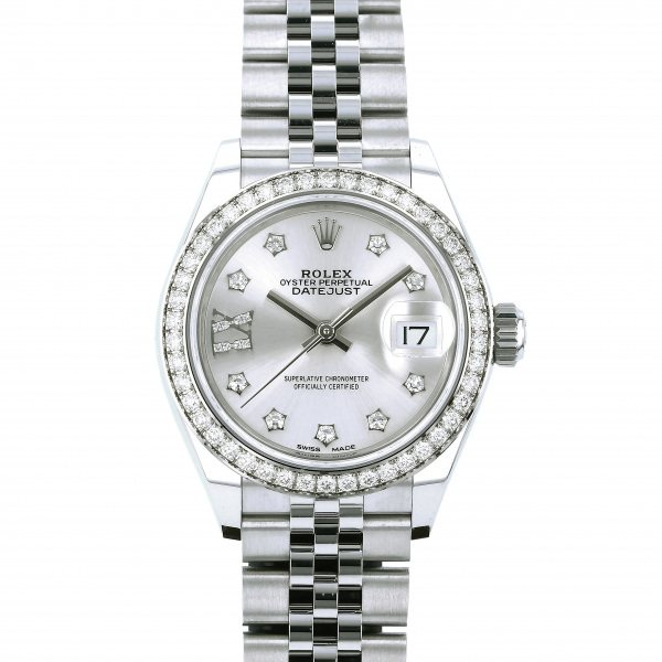 ロレックス ROLEX デイトジャスト 28 279384RBR シルバー(IXダイヤ)文字盤 レディース 腕時計 【新品】
