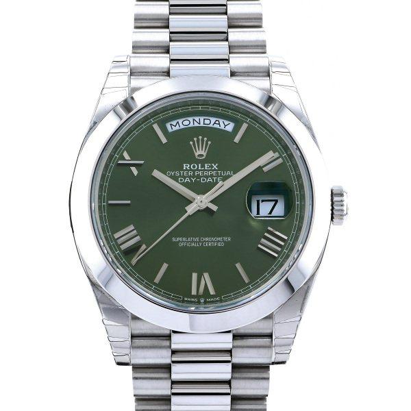 ロレックス ROLEX デイデイト 40 228206 オリーブグリーンローマ文字盤 メンズ 腕時計 【新品】