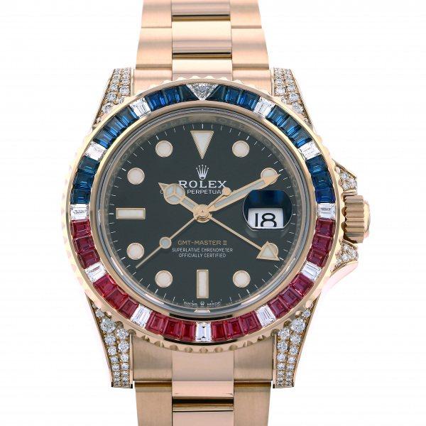 ロレックス ROLEX GMTマスター II 126755SARU ブラック文字盤 メンズ 腕時計 【新品】