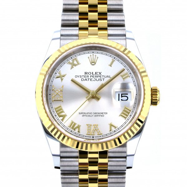 ロレックス ROLEX デイトジャスト 36 126233 シルバーローマ(VI・IXダイヤ)文字盤 メンズ 腕時計 【新品】